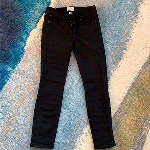 "J.Crew 8"" toothpick black jeans"
